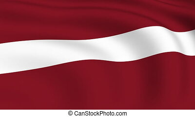 Flying Flag of LATVIA | LOOPED |