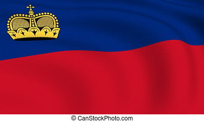 Flying Flag of LIECHTENSTEIN | LOOPED |