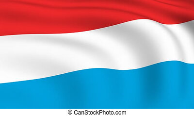 Flying Flag of LUXEMBOURG | LOOPED |