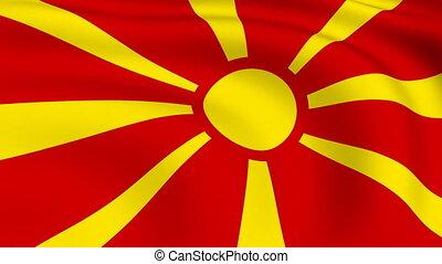 Flying Flag of MACEDONIA   LOOPED  
