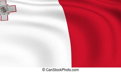 Flying Flag of MALTA | LOOPED |