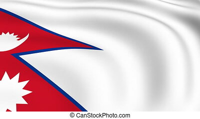 Flying Flag of NEPAL | LOOPED |