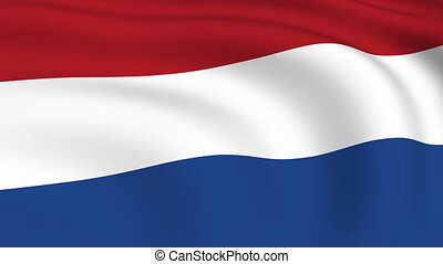 Flying Flag of NETHERLANDS | LOOPED |
