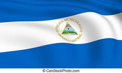 Flying Flag of NICARAGUA | LOOPED |
