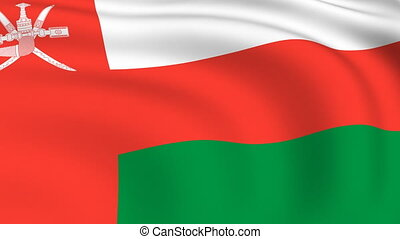 Flying Flag of OMAN | LOOPED |
