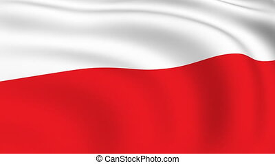 Flying Flag of POLAND | LOOPED |