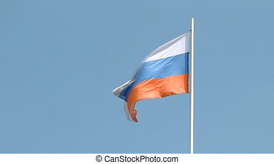 Flying Flag of Russia