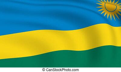Flying Flag of RWANDA | LOOPED |
