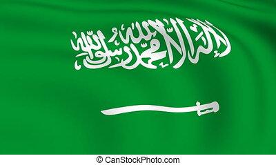 Flying Flag of SAUDI ARABIA   LOOPED  