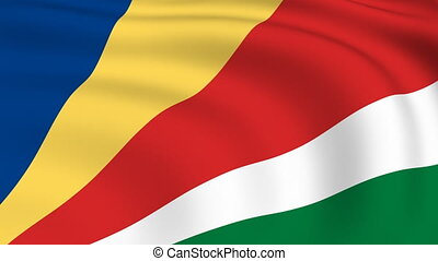 Flying Flag of SEYCHELLES | LOOPED |