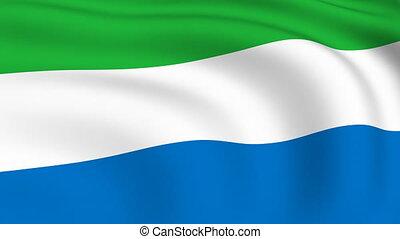 Flying Flag of SIERRA LEONE | LOOPED |