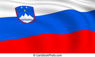 Flying Flag of SLOVENIA | LOOPED |