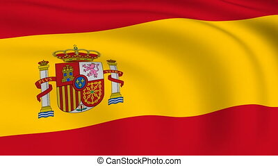 Flying Flag of SPAIN | LOOPED |