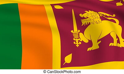 Flying Flag of SRI LANKA | LOOPED |