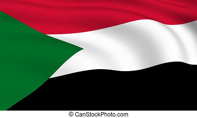 Flying Flag of SUDAN | LOOPED |