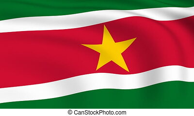 Flying Flag of SURINAME | LOOPED |
