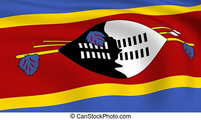 Flying Flag of SWAZILAND | LOOPED |