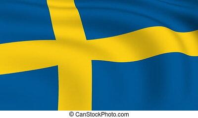 Flying Flag of SWEDEN | LOOPED |