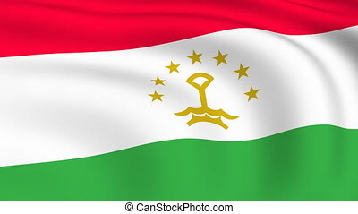Flying Flag of TAJIKISTAN | LOOPED |