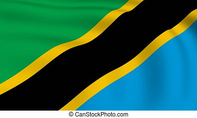 Flying Flag of TANZANIA | LOOPED |