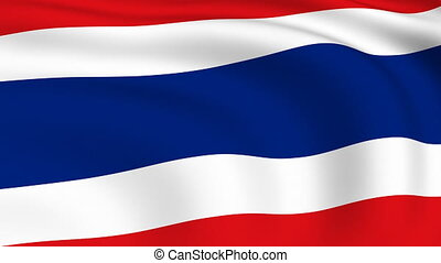 Flying Flag of THAILAND | LOOPED |