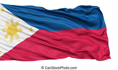 Flying Flag Of The Philippines - Flying bicolor flag of the...