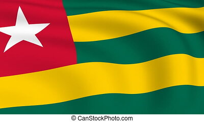 Flying Flag of TOGO | LOOPED |