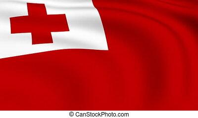 Flying Flag of TONGA | LOOPED |