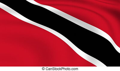 Flying Flag of TRINIDAD AND TOBAGO   LOOPED  