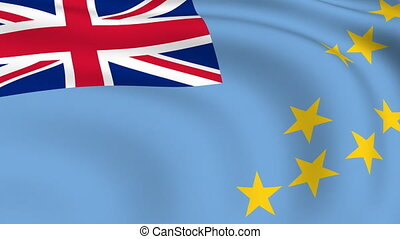 Flying Flag of TUVALU | LOOPED |
