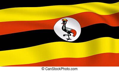Flying Flag of UGANDA | LOOPED |