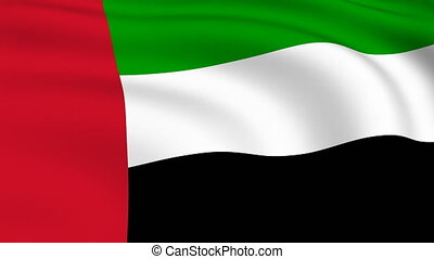 Flying Flag of UNITED ARAB EMIRATES | LOOPED |