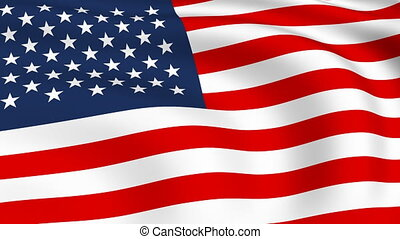 Flying Flag of UNITED STATES | LOOPED |