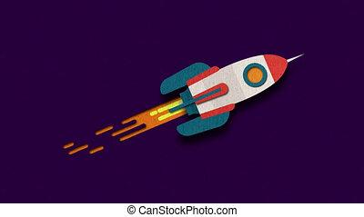 Flying flat rocket