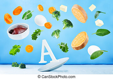 Flying foods rich in vitamin a. Healthy eating