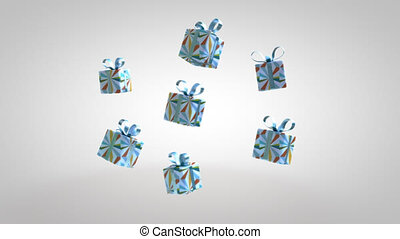 Flying gifts - 3D Animation