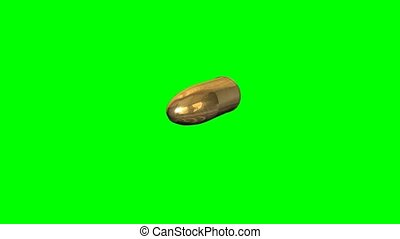 flying gold bullet - green screen effect