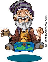 guru - flying guru illustrations