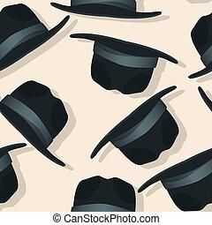 Flying hats pattern