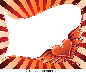 Flying heart background