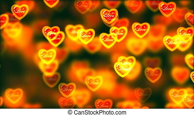 Flying Hearts, Abstract Loopable Background