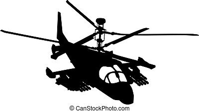 Flying helicopter - Russian Ka-52 (Hokum B) attack...