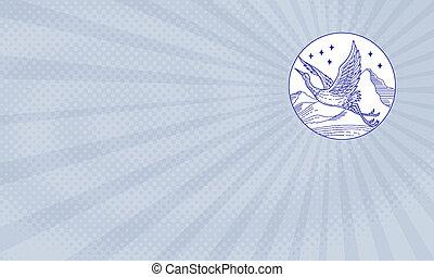 Flying Heron Farm Business card