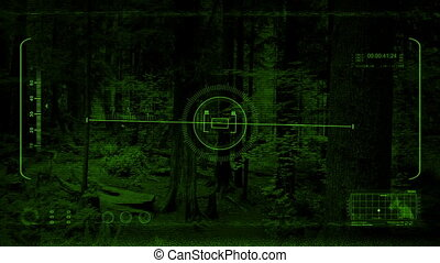 Flying High In Trees Night Vision POV
