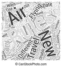 Flying How to Learn the New Air Travel Rules Word Cloud ...