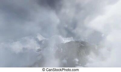 Flying in cumulus clouds