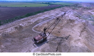 Flying in the career of an excavator