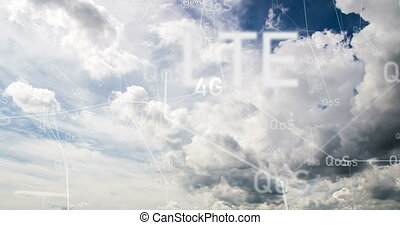 flying in the clouds, camera movement through the clouds,...