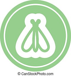 flying insect circular icon symbol