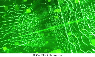 """""""Flying Inside Salad Circuit Board. Loopable."""" - """"A..."""